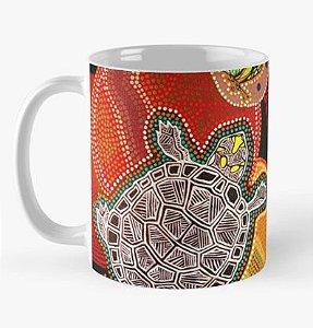 """Caneca grande para chá ou café (325 ml), Edição Especial """"Fauna da Amazônia"""", Modelo """"Tracajá Aborigene"""""""