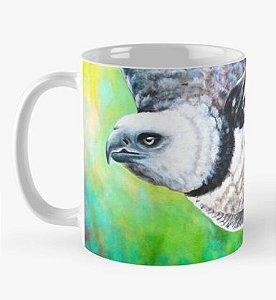 """Caneca grande para chá ou café (325 ml), Edição Especial """"Fauna da Amazônia"""" Modelo """"Gavião-real"""""""
