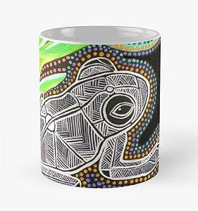 """Caneca grande (325 ml), Modelo """"Rã Aborigene e Abelha"""""""