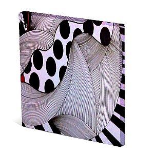 Tela Canvas 30X30 cm Nerderia e Lojaria abstrato bolas pretas colorido