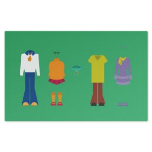 Jogo Americano (Kit 4 Unidades) Nerderia e Lojaria scooby colorido