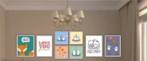 Combo Ambiente decorativo para bebes Nerderia e Lojaria baby1 colorido