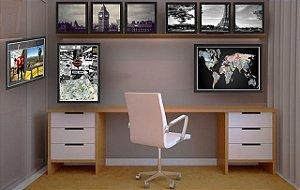 Combo Ambiente decorativo para escritorio Nerderia e Lojaria escritorio1 colorido