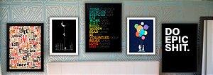 Combo Ambiente Decorativo Quarto Teen Masculino Nerderia e Lojaria teenm1 colorido