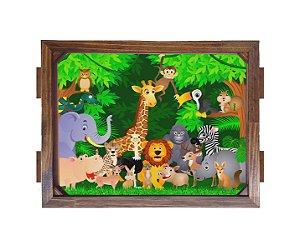 Bandeja De Madeira 30x40 cm Nerderia e Lojaria animais baby madeira