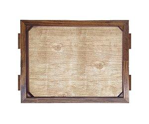 Bandeja De Madeira 30x40 cm Nerderia e Lojaria madeira madeira