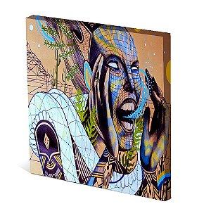 Tela Canvas 30X30 cm Nerderia e Lojaria abstrato woman colorido