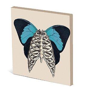 Tela Canvas 30X30 cm Nerderia e Lojaria bone asas colorido
