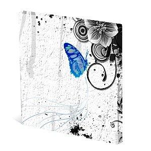 Tela Canvas 30X30 cm Nerderia e Lojaria butterfly azul colorido