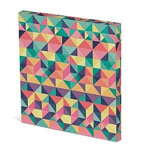Tela Canvas 30X30 cm Nerderia e Lojaria eometrico 09 colorido
