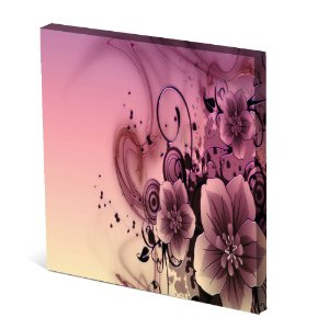 Tela Canvas 30X30 cm Nerderia e Lojaria flor roxa surreal colorido