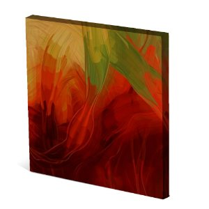 Tela Canvas 30X30 cm Nerderia e Lojaria flores paint colorido