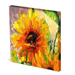 Tela Canvas 30X30 cm Nerderia e Lojaria girasol paint colorido