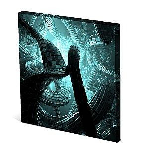 Tela Canvas 30X30 cm Nerderia e Lojaria labirinto surreal colorido