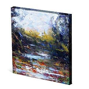 Tela Canvas 30X30 cm Nerderia e Lojaria lago paint colorido