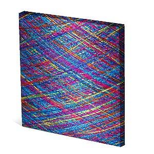 Tela Canvas 30X30 cm Nerderia e Lojaria linhas colorido