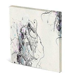 Tela Canvas 30X30 cm Nerderia e Lojaria mulher linhas colorido
