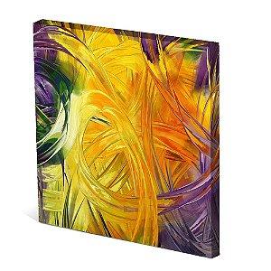 Tela Canvas 30X30 cm Nerderia e Lojaria nó amarelo colorido