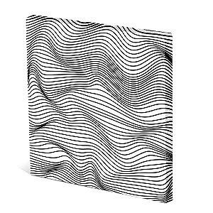 Tela Canvas 30X30 cm Nerderia e Lojaria ondas 3d colorido