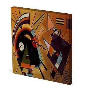 Tela Canvas 30X30 cm Nerderia e Lojaria pessoas abstratas colorido