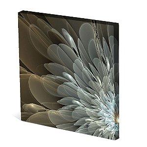 Tela Canvas 30X30 cm Nerderia e Lojaria petalas colorido