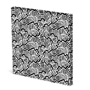Tela Canvas 30X30 cm Nerderia e Lojaria rachadura PB colorido