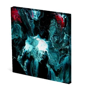 Tela Canvas 30X30 cm Nerderia e Lojaria splash colorido