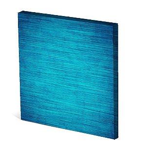 Tela Canvas 30X30 cm Nerderia e Lojaria tela azul colorido