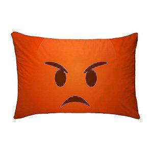 Fronha Para Travesseiros Nerderia e Lojaria emoticon whatsapp bravo colorido