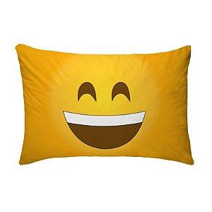 Fronha Para Travesseiros Nerderia e Lojaria emoticon whatsapp sorrindo colorido