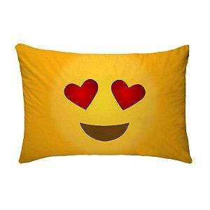 Fronha Para Travesseiros Nerderia e Lojaria emoticon whatsappapaixonado colorido