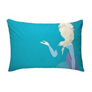 Fronha Para Travesseiros Nerderia e Lojaria princesa do gelo colorido