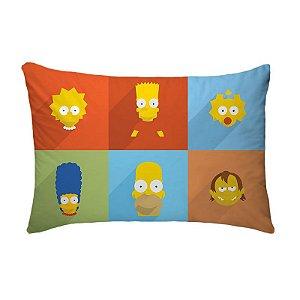 Fronha Para Travesseiros Nerderia e Lojaria simpsons minimalistas colorido