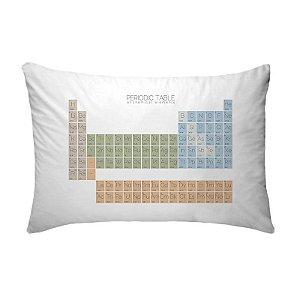 Fronha Para Travesseiros Nerderia e Lojaria tabela periodica colorido