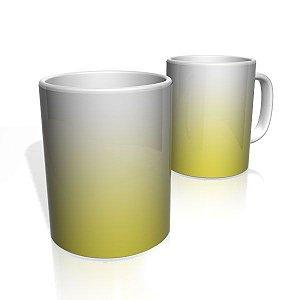 Caneca De Porcelana Nerderia e Lojaria amarelo branco colorido