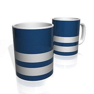 Caneca De Porcelana Nerderia e Lojaria azul tres faixas 2 colorido