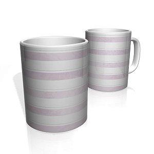 Caneca De Porcelana Nerderia e Lojaria faixas roxo  colorido