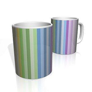 Caneca De Porcelana Nerderia e Lojaria linhas arco iris 2 colorido