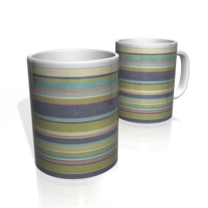 Caneca De Porcelana Nerderia e Lojaria linhas colorido