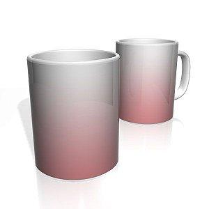 Caneca De Porcelana Nerderia e Lojaria rosa branco colorido
