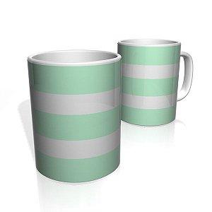 Caneca De Porcelana Nerderia e Lojaria verde duas faixas 2 colorido