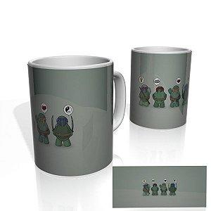 Caneca decorativa Nerderia e Lojaria tartarugas ninjas colorido
