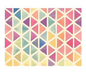 Jogo Americano (Kit 4 Unidades) Nerderia e Lojaria triangulos coloridos colorido
