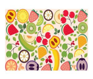 Jogo Americano (Kit 4 Unidades) Nerderia e Lojaria _frutas colorido