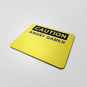 MOUSE PAD GAMER MÉDIO 26X30cm Nerderia e Lojaria angry gamer colorido