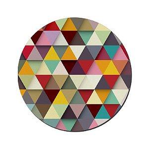 MOUSE PAD GAMER PEQUENO 20x24 cm Nerderia e Lojaria triangulos colorido