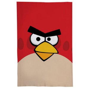 Pano De Prato Descorativo Nerderia e Lojaria angry bird vermelho colorido