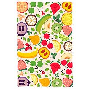 Pano De Prato Descorativo Nerderia e Lojaria frutas colorido