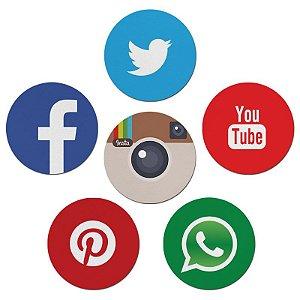 Porta Copos Nerderia e Lojaria social media colorido