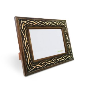 Porta Retrato 10x15 cm Nerderia e Lojaria africano tribal madeira